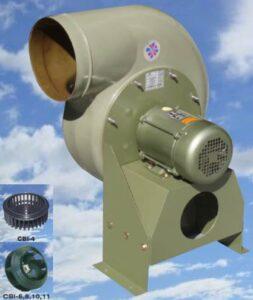 Extractor de aire centrífugo.